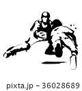 野球 キャッチャー 試合のイラスト 36028689