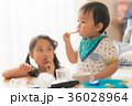 姉弟 おやつ 1才の写真 36028964