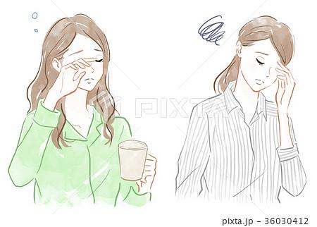 眠気・頭痛・ストレスのイメージ 36030412