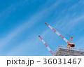 工事現場 クレーン 屋上の写真 36031467
