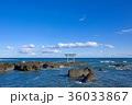 海 鳥居 青空の写真 36033867