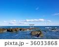 海 鳥居 青空の写真 36033868
