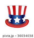 American flag Hat Independence Day. Vector 36034038