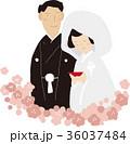 結婚 人物 三々九度のイラスト 36037484