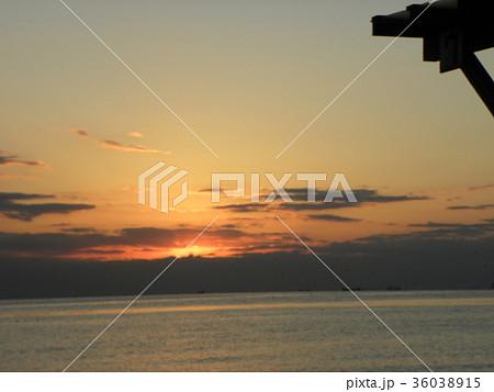 稲毛海岸の夕焼け 36038915