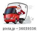 ベクトル トラック サンタのイラスト 36039336