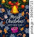 クリスマス グリーティング カードのイラスト 36040715