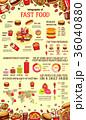 食 料理 食べ物のイラスト 36040880