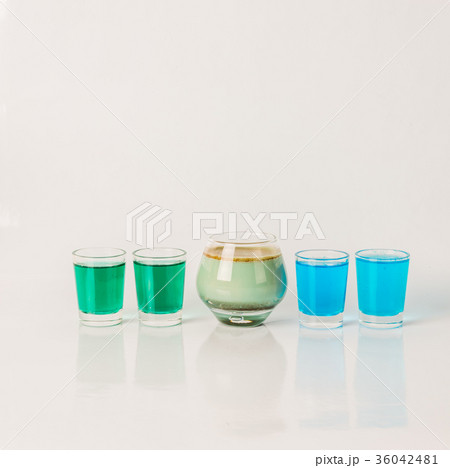 Five color drink shotsの写真素材 [36042481] - PIXTA