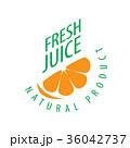 シンボルマーク ロゴ ジュースのイラスト 36042737