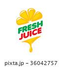 シンボルマーク ロゴ ジュースのイラスト 36042757