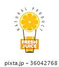 シンボルマーク ロゴ ジュースのイラスト 36042768