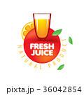 シンボルマーク ロゴ ジュースのイラスト 36042854