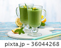 Spinach smoothie  with mint. 36044268