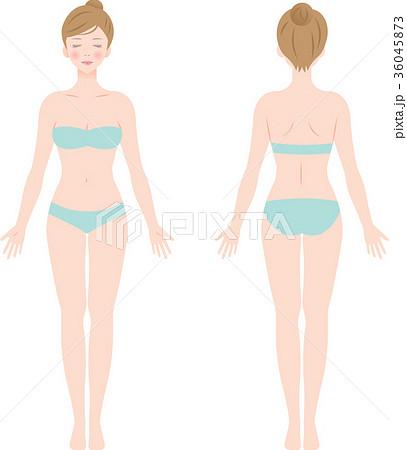 女性 体 全身 36045873