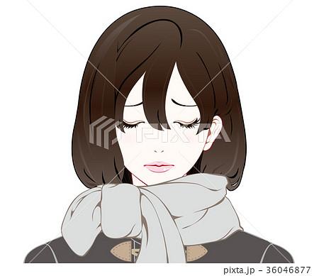 女性の表情 冬服 悲しいのイラスト素材 36046877 Pixta
