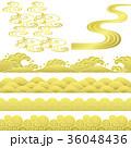 波 和風 金色のイラスト 36048436