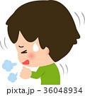 咳 咳き込む 子供のイラスト 36048934