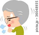 咳 咳き込む シニアのイラスト 36048935
