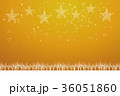 クリスマスのイメージ背景イラスト|金色 夜景と雪の結晶で描いた星のオーナメント|Christmas 36051860