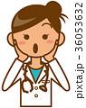女医 驚く 36053632