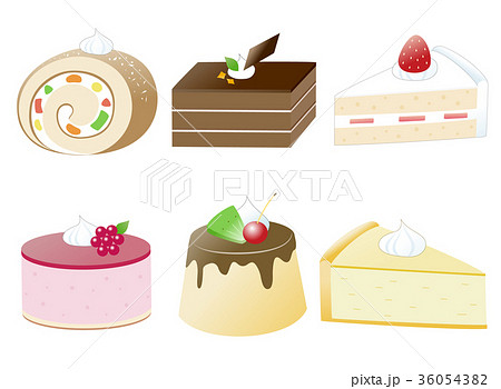 かわいいケーキのセット 36054382