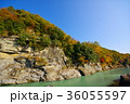 長瀞渓谷 紅葉 秋の写真 36055597