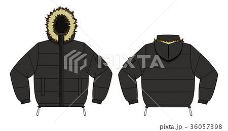 ダウンジャケット イラスト黒のイラスト素材 36057398 Pixta