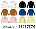 長袖 ベクター ポロシャツのイラスト 36057576