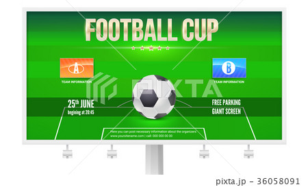 football cup billboard template with place forのイラスト素材