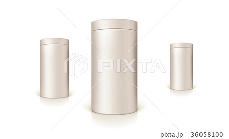 Set of round tins of packaging for bulk products 36058100