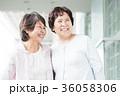 シニア 女性 笑顔の写真 36058306