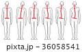 姿勢 背中 後姿のイラスト 36058541