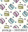 ハンバーガー バーガー カラフルのイラスト 36058642