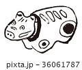 赤べこ 水彩画 36061787