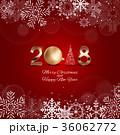 2018 クリスマス デコレーションのイラスト 36062772