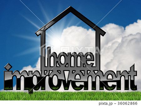 Home Improvement Symbol on a Lawn 36062866