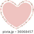 ナチュラル ハート素材 36068457