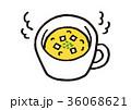 コーンスープ スープ クリームスープのイラスト 36068621