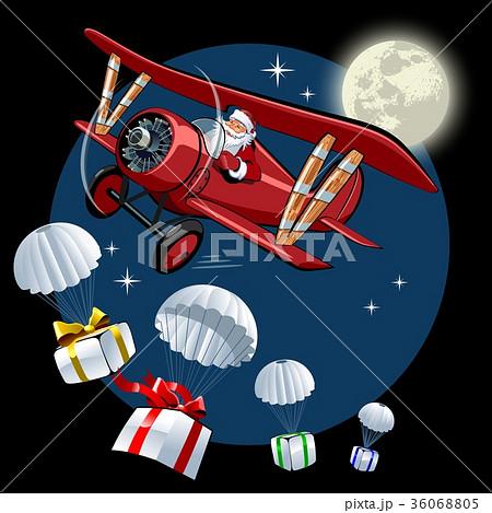 Cartoon retro Christmas card 36068805