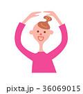 人物 女性 笑顔のイラスト 36069015