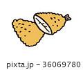 白身魚のフライ 36069780
