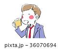 ビール 男性 人物のイラスト 36070694