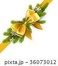 クリスマス モミ リボンのイラスト 36073012