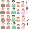 三世帯 表情 人物のイラスト 36088879