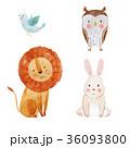 ライオン 鳥 うさぎのイラスト 36093800