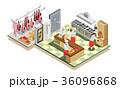 シェフ レストラン 飲食店のイラスト 36096868