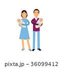 ファミリー 家庭 家族のイラスト 36099412