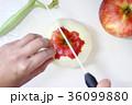 りんごを切る女性の手 36099880