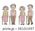 杖 シニア 人物のイラスト 36101497